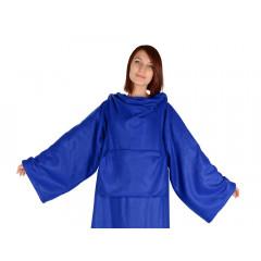 Плед с рукавами LAZY (синий)