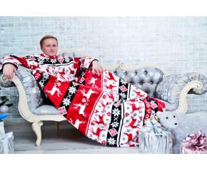 """Плед с рукавами Comfortberry """"Новогоднее настроение"""""""